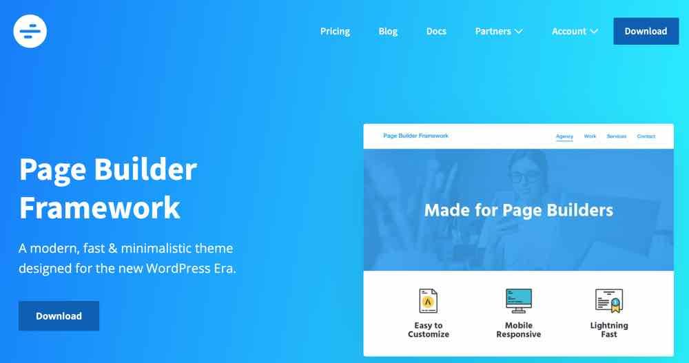 Wordpress Pagebuilder Framework
